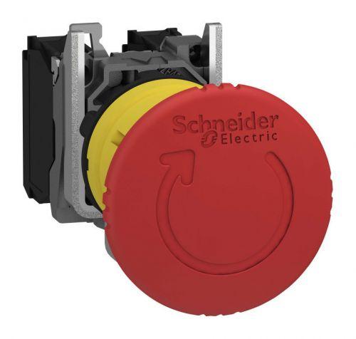 Кнопка Schneider Electric XB5AS8445 XB5 аварийная грибок d 40мм 1НО+1НЗ возврат поворотом