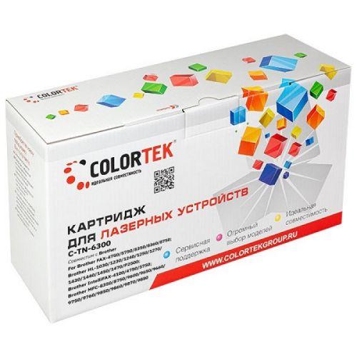 Картридж Colortek CT-TN6300 для Brother FAX-4750, FAX-5750, FAX-8350, FAX-8360, FAX-8750, HL-1030, HL-1230, HL-1240, HL-1250, HL-1270, HL-1430, …3000