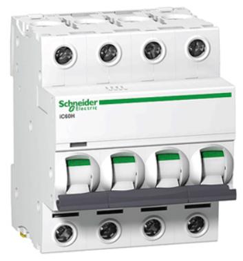 Автоматический выключатель Schneider Electric A9F79450 4P 50A (C)(серия Acti 9 iC60N) автоматический выключатель schneider electric ez9f34416 easy 9 4p 16a c