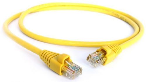 Фото - Кабель патч-корд UTP 5e кат. 5м. GCR GCR-LNC02-5.0m , AWG24, RJ45, литой (Желтый), пластик пакет кабель патч корд utp 5e кат 20м gcr gcr lnc03 20 0m rj45 литой серый