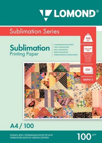 Бумага Lomond 0809413 Сублимационная бумага Lomond для струйной печати, матовая, односторонняя, А4, 100 г/м2, 100 листов.