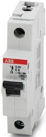 Фото - Автоматический выключатель ABB 2CDS251001R0064 S201 1P 6А (С) 6kA автоматический выключатель abb 2cds251103r0104 s201 1p n 10а с 6ка