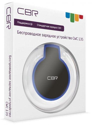 Зарядное устройство беспроводное CBR CWC 135 black, Qi, вх. 5В/2А, вых. 5В/1А, 5Вт сетевое зарядное устройство hama 12108 5в 1а 00012108 черный