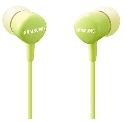 Наушники-вкладыши Samsung EO-HS130 зеленые, 1.2м, проводные, в ушной раковине