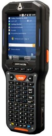 Фото - Терминал сбора данных PointMobile PM450 Wi-Fi/BT, 3G, GPS, 1D/2D Extra Long Range(EX25), ALPHA NUMERIC, EXT(5,200mAh), VGA, 512MB/1GB, WEH 6.5 терминал сбора данных pointmobile p260ep12134e0t 2d 2200 ма·ч li ion point mobile pm260 2d bt 802 11 bg 256 256 wce6
