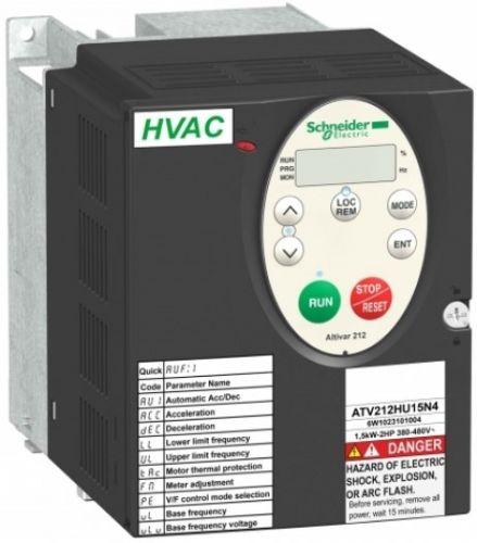 Преобразователь Schneider Electric ATV212HU22N4 частотный 2,2кВт 480В IP21