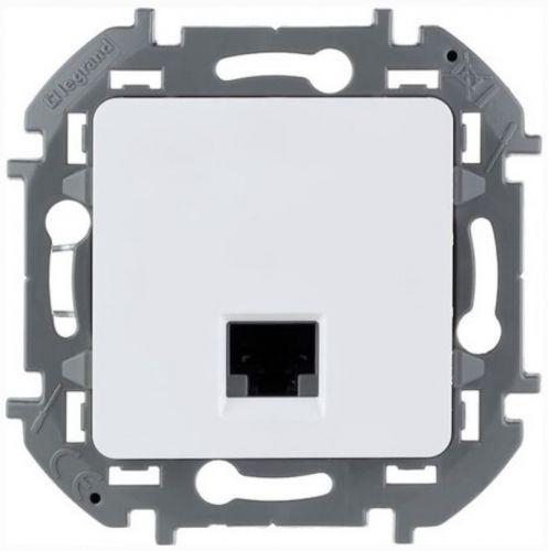 Розетка Legrand 673830 Inspiria белая RJ 45 - категория 6 - UTP