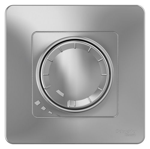 Светорегулятор Schneider Electric BLNSS040013 (диммер) поворотно-нажимной 400ВТ Алюминий внутр