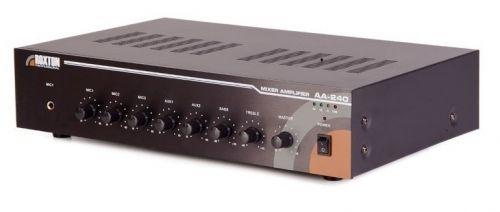 Усилитель Roxton АА-240 240Вт, 3 микрофона/2 линейных входа, 100...16000 Гц; 100В/70В/4-16 Ом, 1 лин. выход; ~220В