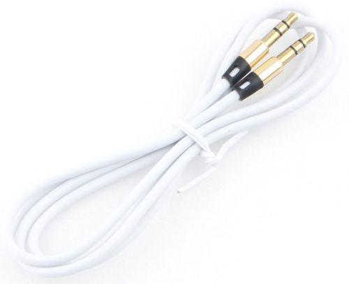 Кабель аудио Cablexpert CCAB-01-35MM-1MW 3.5 джек (M)/3.5 джек (M), белый. 1м, блистер