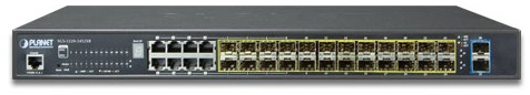 Коммутатор Planet SGS-5220-24S2XR IPv6 L2+/L4 24-Port 100/1000X SFP with 8 Shared TP + 2-Port 10G SFP+ Managed stackable Switch, W/ 48V ipv6