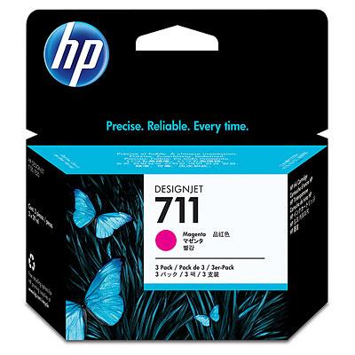 Картридж HP CZ135A №711 Тройная упаковка для принтеров HP Designjet T120, T520, T525, пурпурный, 3*29мл