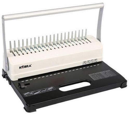 Брошюровщик Kobra Queenbind H500 на пластик. пружину, перф. 14л., сшивает до 500 л., стальная станина, глубина перфорации 2-5 мм