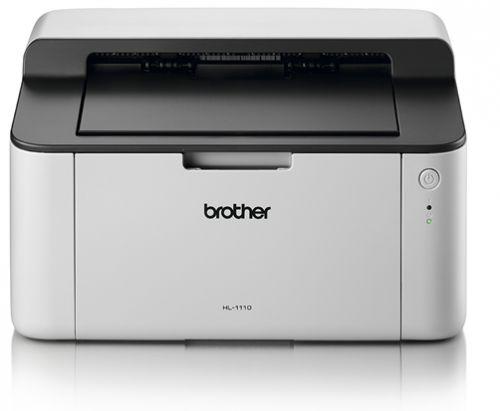 Фото - Принтер монохромный лазерный Brother HL-1110R бело-черный, A4, 20стр/мин, печать 2400x600, лоток 150 листов, USB, старт.картридж 700стр принтер монохромный лазерный lexmark ms331dn 29s0010