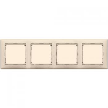 Рамка Legrand 774354 Valena 4 поста горизонтальная, IP20 (слоновая кость)