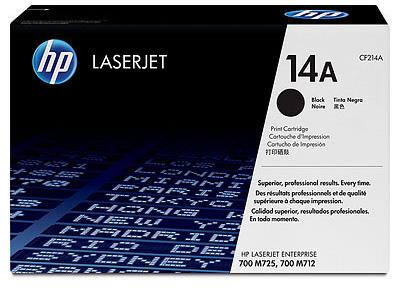 Картридж HP 14A CF214A для LaserJet 700 MFP M712, черный