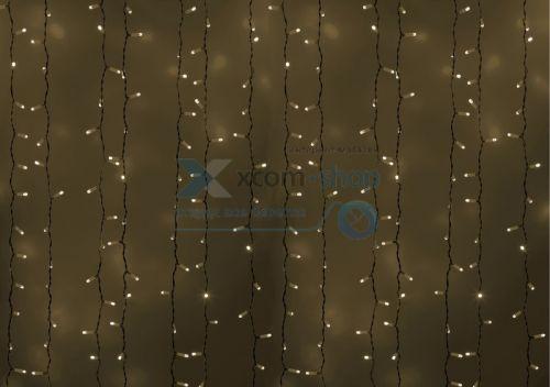 Гирлянда NEON-NIGHT 235-135 светодиодный дождь 2х3м, постоянное свечение, белый провод, 230 В, диоды белые, 760 LED