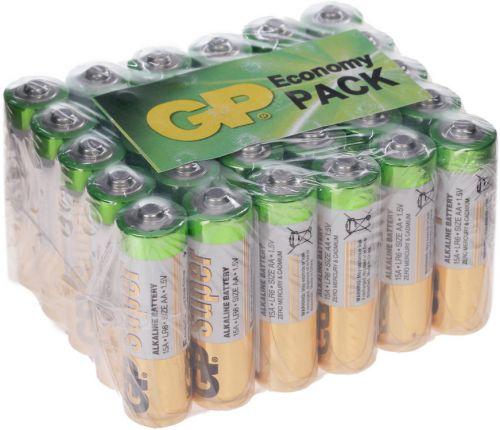 Батарейка GP Super Alkaline 15A LR6 15A-B30 1.5V, 30шт, size AA недорого