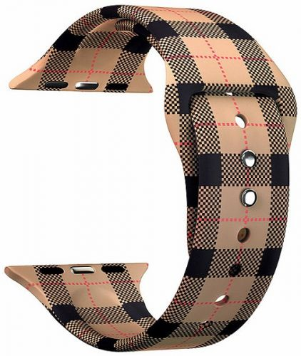 Ремешок на руку Lyambda Urban DSJ-10-54A-40 силиконовый для Apple Watch 38/40 mm brown plaid ремешок для часов lyambda для apple watch 38 40 mm urban dsj 10 72a 40