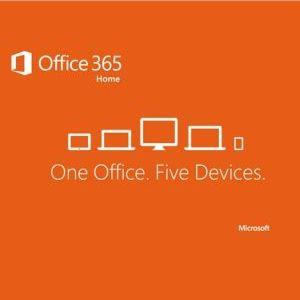 Microsoft Office 365 для дома, 5 ПК/Mac + 5 планшетов, 1 год