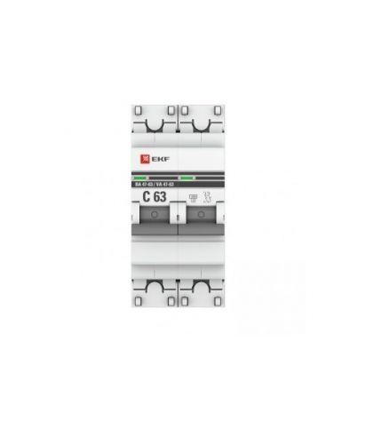Автоматический выключатель EKF mcb4763-2-04C-pro модульный 2п C 4А 4.5кА ВА 47-63 PROxima