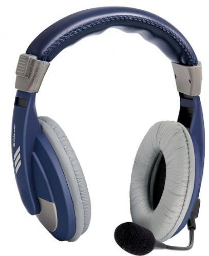 Гарнитура проводная Defender Gryphon HN-750 63748 регулятор громкости, кабель 2м, синяя