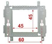 Суппорт Lanmaster LAN-PF45x45 пластиковый для установки 45х45