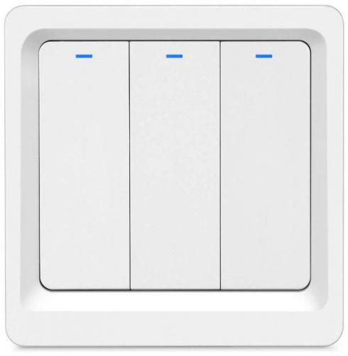 Фото - Выключатель HIPER Switch B03 умный, Wi-Fi 3 линии, белый умный wi fi модуль выключатель hiper iot switch m02 белый hdy sm02