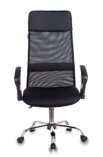 Кресло Бюрократ KB-6N руководителя, цвет черный TW-01 TW-11 сетка с подголов. крестовина металл хром