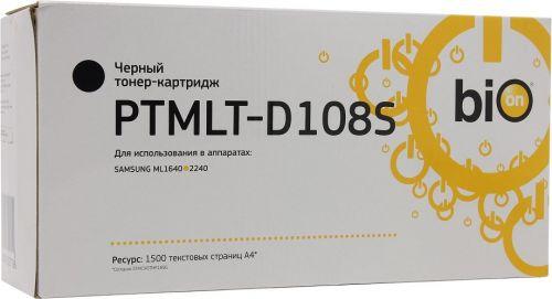 Картридж BION PTMLT-D108S для Samsung ML-1640/ 1641/ 2240/ 2241, черный, 1500 стр.