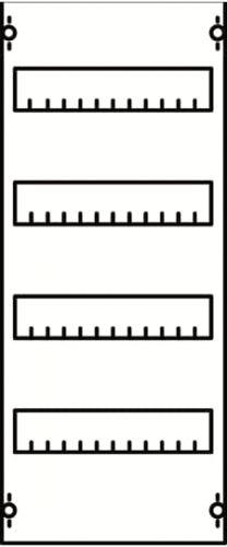 Панель ABB 1V0A под установку мод. устройств 1ряд/4 рейки h==650