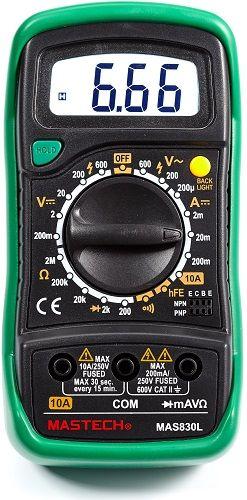 Мультиметр Mastech 13-2007 Портативный MAS830L