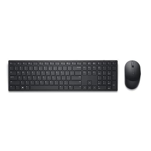 Клавиатура и мышь Dell KM5221W 580-AJRV клав:черный мышь:черный беспроводная