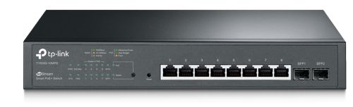 Коммутатор PoE TP-LINK T1500G-10MPS 8x10/100/1000 PoE+ (116W), 2xSFP, Smart