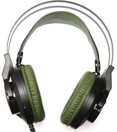 Гарнитура A4Tech Bloody J450 черный/зеленый, 2.2м, мониторы, оголовье