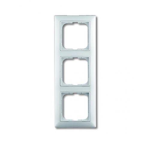 Рамка ABB 1725-0-1481 BASIC 55 3 поста, с декоративной вставкой, IP20 (белая)