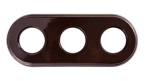 Рамка Bironi BF2-630-02 коричневый фарфор, 3-я рамка bironi bf2 630 02 коричневый фарфор 3 я
