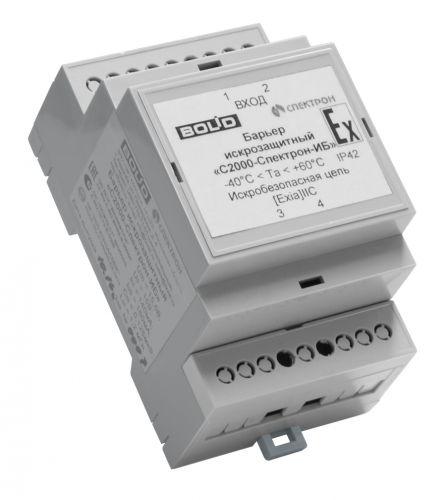 Устройство Болид С2000-Спектрон-ИБ барьер искрозащитный. Корпус из пластика, защита оболочки IP42