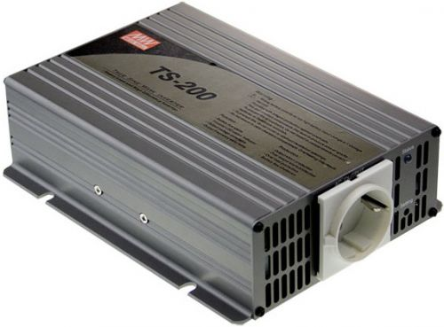 Преобразователь напряжения DC-AC инвертор Mean Well TS-200-212B вых: 200 Вт; U вх: 12 В; U вых: 230 В; Форма: чистый синус