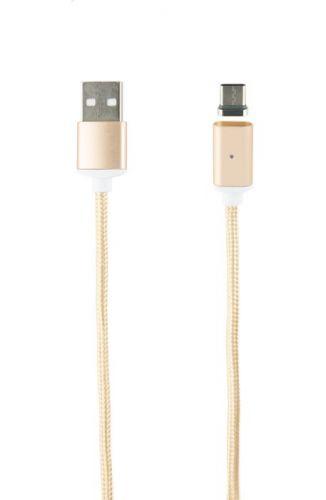Кабель интерфейсный Red Line USB-Type-C УТ000012853 нейлоновая оплетка, золотой кабель интерфейсный red line usb micro usb ут000014162 2 м нейлоновая оплетка золотой
