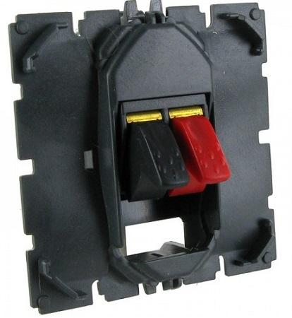 Розетка Legrand 67311 для колонки, безвинтовой зажим с маркировкой