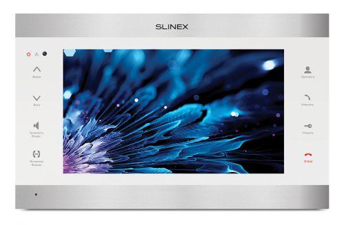 """Видеодомофон Slinex SL-10IPT (Silver+White) AHD цветной, настенный, 10"""" сенсорный TFT экран 16:9, разрешение экрана 1024х600. Подключение 2-х вызывных"""