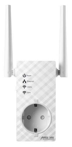 Точка доступа ASUS RP-AC53 WI-FI репитер, 802.11n + 802.11 ac, до 300 + 433Мбит/c, 2,4 + 5 гГц, LAN