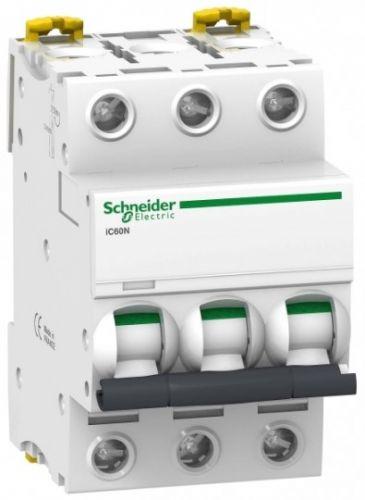 Фото - Автоматический выключатель Schneider Electric A9F74303 Acti 9 iC60N 3P 3A (C) автоматический выключатель schneider electric acti 9 ic60n 3p c 6ка 50 а
