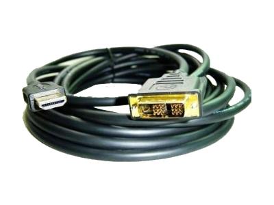 Кабель интерфейсный HDMI-DVI Gembird 19M/19M CC-HDMI-DVI-10 3м, single link, черный, позол.разъемы, экран, пакет