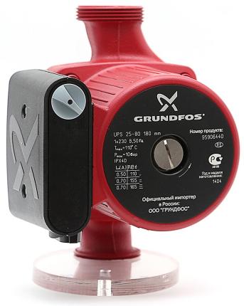 Насос циркуляционный Grundfos UPS 25/80 95906440 с гайками