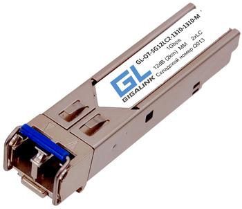 Модуль SFP GIGALINK GL-OT-SG12LC2-1310-1310-M 1Гбит/c, два волокна MM, 2xLC, 1310 нм, 12 дБ (до 2 км) (GL-12GT2)