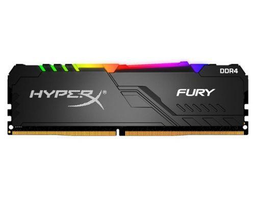 Модуль памяти DDR4 8GB HyperX HX426C16FB3A/8 Fury RGB PC4-21300 2666MHz CL16 288-Pin XMP радиатор 1.2V модуль памяти ddr4 8gb hyperx hx426c13pb3 8 predator pc4 21300 2666mhz cl13 1 35v xmp радиатор rtl