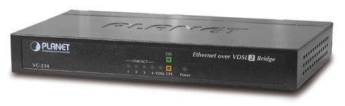 Медиа-конвертер Planet VC-234 VDSL2 (профиль 30а) с 4-портовым коммутатором