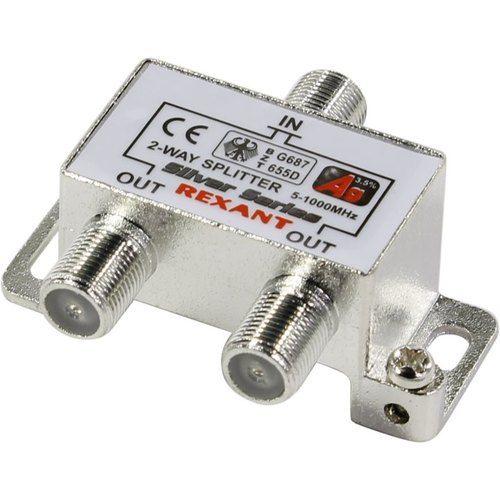 Разветвитель антенный Rexant 06-0045-B F-типа на 2 TV + F-разъемы, 5-1000 МГц